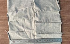 Vải lau màu may nối 3-5 lớp không ra màu